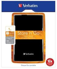 Verbatim Store n Go 1tb Disco Duro Externo Móvil en Negro - usb3.0