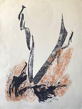 Grande estampe abstrait abstraction signée illisible ?