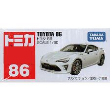 Takara Tomy Tomica #86 Toyota 86 White 1/60 Diecast Toy Car JAPAN FS ae86 h