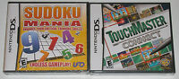 Nintendo DS Lot - TouchMaster Connect (New) Sudoku Mania (New) NDS