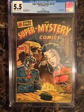Super Mystery Comic Vol 6 #5 CGC 5.5 OW/W Ohio Pedigree Bondage Headlight Cover!