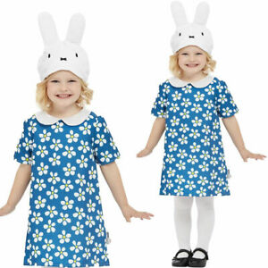 Girls Miffy Costume Bunny White Rabbit Toddler Kids World Book Day Fancy Dress