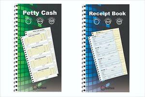 Petty Cash Voucher/Receipt Duplicate Book Pad 200 Sets Carbonless NCR Spiral Pad