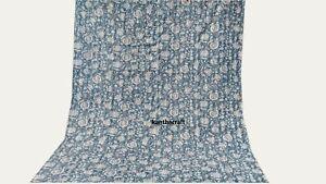 Handmade kantha Quilt 100% Cotton Queen Bedspreads