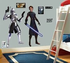 LARGE WALL STICKERS DECOR STAR WARS CLONE REX ANAKIN