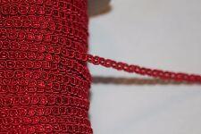 """3 yards $1 Cherry Red GIMP Braid Braided sewing doll craft trim 1/8"""" wide W9 g"""