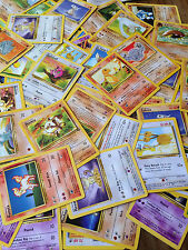 Pokemon card lot (120) Common Uncommon Rare Holo OLD Wizards 1st gen Random TCG