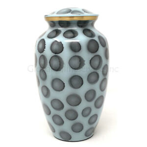 Classic Large Painted Ash dots Brass Urn For Human Ashes
