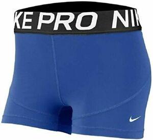 "Women's NIKE AO9977-480 Pro 3"" COMPRESSION Running Training Shorts Size: XL"