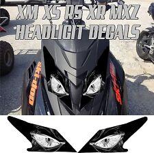 SKI DOO  XS XM XR RS MX Z TNT SUMMIT GSX RENEGADE HEADLIGHT DECAL STICKER MXZ 6