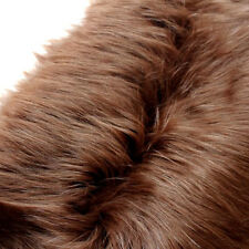 Coffee SHAGGY FAUX FUR FABRIC LONG PILE FUR costumes photographic backdrops BTY