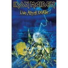 Bandera o póster tejido IRON MAIDEN - LIVE AFTER DEATH. Banderas de bandas rock