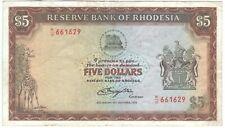 Rhodesia 5 Dollars 1978 P-36b