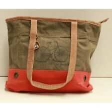 Canvas and Leather Unisex Tange Bike Tote Bag