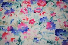 """Floral Petals Swiss Dot 100% Cotton Lawn Sheer Apparel Embroidered Fabric 43""""W"""