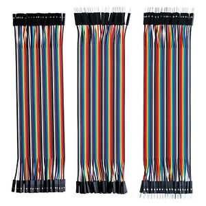 40PCS DUPONT JUMP WIRE ARDUINO JUMPER BREADBOARD CABLE LEAD HOBBY GPIO RIBBON