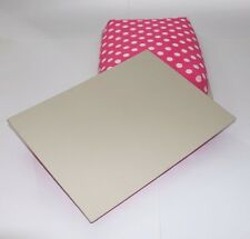 Lap Desk Laptop Notebook Multi-Purposes Tray Back Pillow Cushion White Dot Pink
