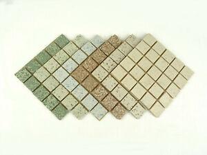 20mm Unglazed Porcelain Mosaic Tiles, Speckled Mix 150 Tile Pack