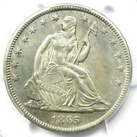 1865-S Seated Liberty Half Dollar 50C - Certified PCGS AU Details - Rare Date!