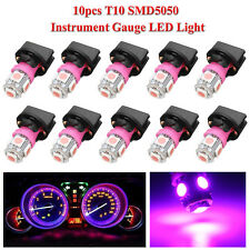 10x Purple T10 194 LED Bulbs for Instrument Gauge Cluster Dash Light W/ Sockets