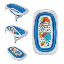 Tiempo de Baño del Bebé Plegable Splash & Play Diseño Elefante Azul Bañera Transportable