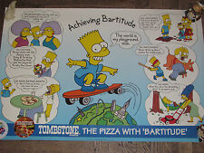 Simpsons Bart Tombstone Pizza Poster Mail-Away RARE! Great Shape Homer Bartitude