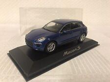 Minichamps 1:43 Porsche Macan S Blau Modellauto Scale Geschenk Weihnachten