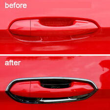 Black Auto Exterior Door Handles Frame Stainless Steel For Ford Mustang 2015-17