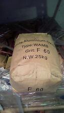 NEW White Aluminium Oxide Grit 60 # mesh 25kg bag - Sand blasting Abrasive fused