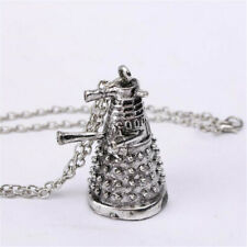 Dr Doctor Who Dalek Necklace Vintage Alien Robot Antique Silver Pendant Jewelry
