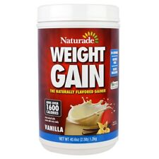 NATURADE WEIGHT GAIN WHEY PROTEIN SHAKE GLUTEN FREE NUTRITION ENERGY 40.6 oz