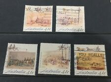 Australian 1990 Gold Fever set of 5 Square Sheet stamps used