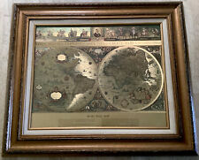William Janszon Blaeu Wall Map Nova Totivs - Framed