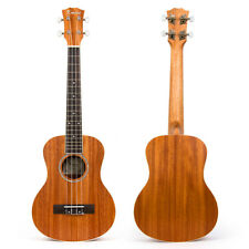 "Laminated Mahogany Top Tenor Ukulele 26"" Hawaii Guitar Abalone Soundhole Rosette"