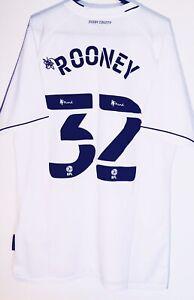 Last One! *BNWT* 20/21 Derby County Shirt #32 Rooney Size L Man Utd England