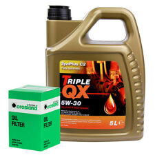 PEUGEOT 407SW 2.0HDI 135 Oil Filter+Triple QX Fully Syntetic Plus C2 5W30 Oil 5L