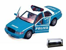 DIECAST CAR W/LED CASE 2010 FORD CROWN VICTORIA POLICE INTERCEPTOR MOTORMAX 1/24