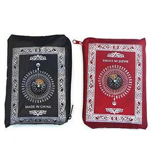 Ramadan Islamic And Muslim Travel Prayer Mats,Compass Pocket Size Tote Bags Y8T4
