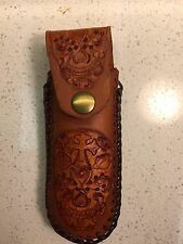 Folding Knife / 45acp 8rds Mag Pouch Hand tool Leather Sheath