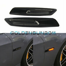 Amber LED Side Marker For BMW E60 E82 E83 E88 E90 E91 Smoke Lens F10 Style Black