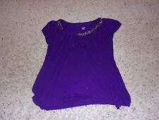 "Womens ""a.n.a."" Purple Cap Sleeve Blouse Size M"