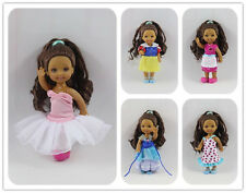 5 RANDOM Cute dress Outfit Clothes  For Barbie's Sister Little Kelly Doll NEW