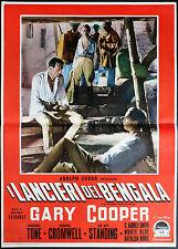 CINEMA-fotobusta I LANCIERI DEL BENGALA gary cooper