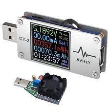 AVHzY USB Power Meter Tester USB Multimeter USB Load Current Tester Voltage