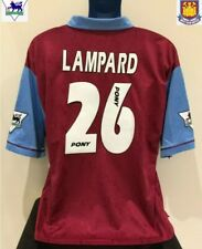 West Ham United, England LAMPARD 95/96 Home Football Shirt (L) Soccer Jersey
