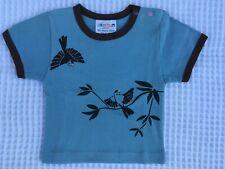 Sckoon Blue Bird Top Tee Size 0-6, 0, 1 100% Organic Cotton Xmas Gift Boy