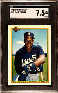GRADED 1990 Bowman Tiffany #320 Frank Thomas SGC NM+ 7.5 Chicago White Sox