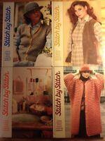 1984 Stitch By Stitch Books HC #1-4 Torstar Sewing Knitting Crochet Needlecraft