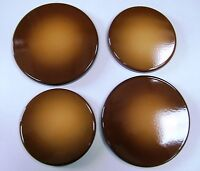"""New Set of 4 """"CARAMEL""""  Enamel Electric Oven Hob Covers - 2 x 16cm and 2 x 20cm"""