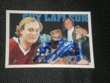HOF GUY LAFLEUR 1991-92 SCORE SIGNED AUTO CARD #402